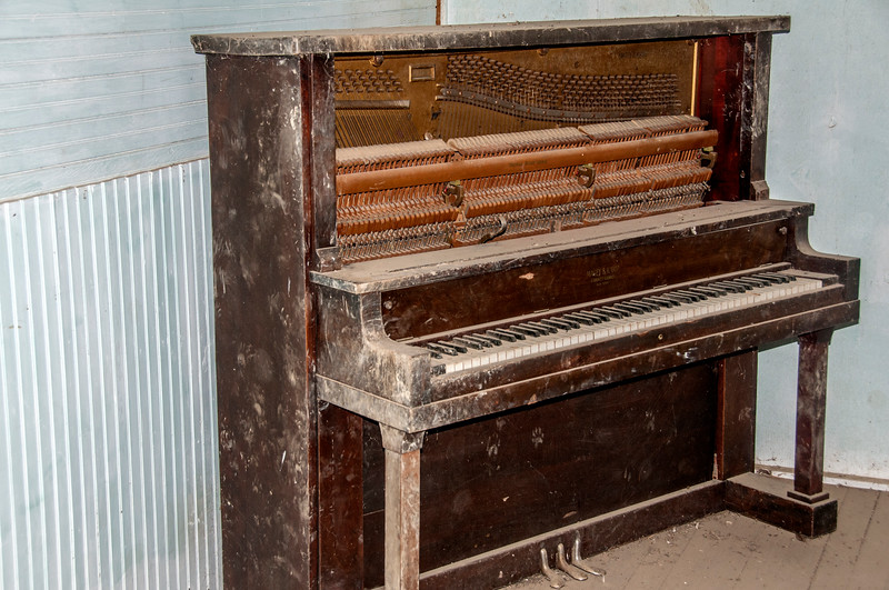 """The upright piano at the Alpha Country Club<br /> <br /> You can own this print. Just click """"buy."""""""