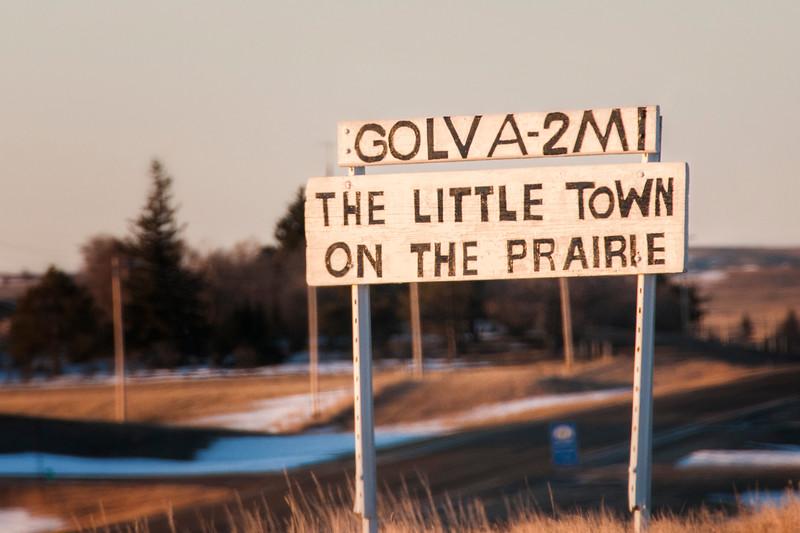 Golva big little town