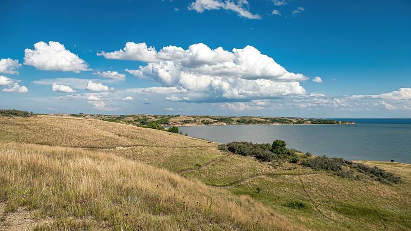 East, Overlooking Lake Sakakawea from the Nux Baa Ga Trail at Indian Hills Resort, North Dakota