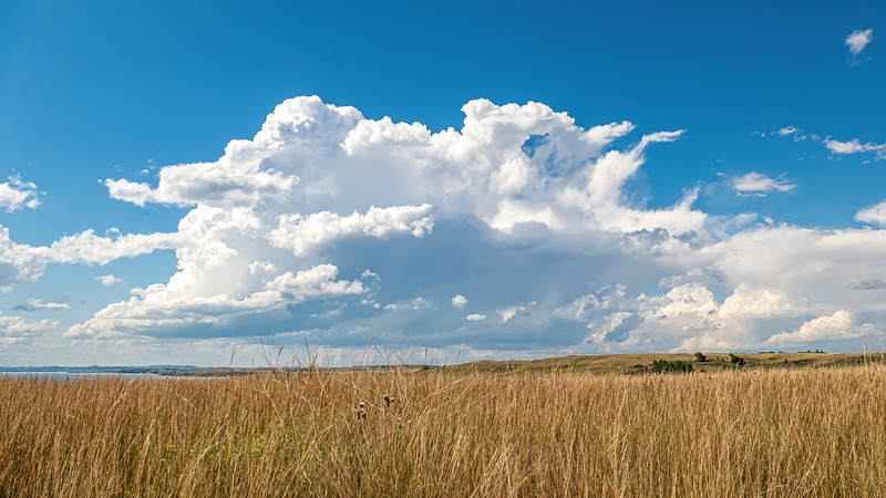 Storm Clouds to the West Over the Grasslands at Indian Hills Resort, North Dakota