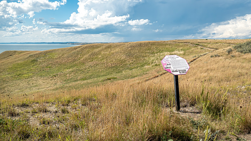 Grasslands Overlooking the Location of Elbowoods, Now Beneath Lake Sakakwea, Indian Hills, North Dakota