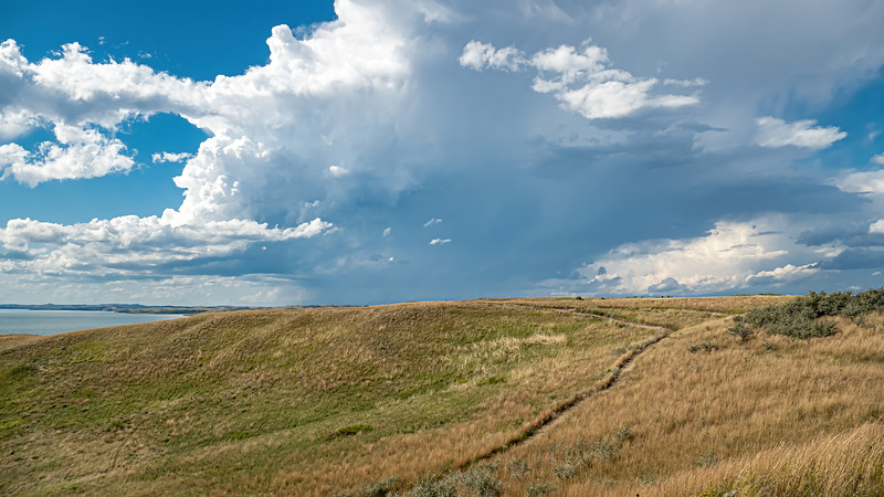 Storms on the Horizon at Nux Baa Ga Trail, Indian Hills Resort, North Dakota
