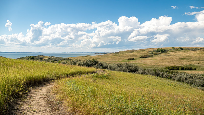 Curving Nux Baa Ga Trail in the Grasslands at Indian Hills, North Dakota