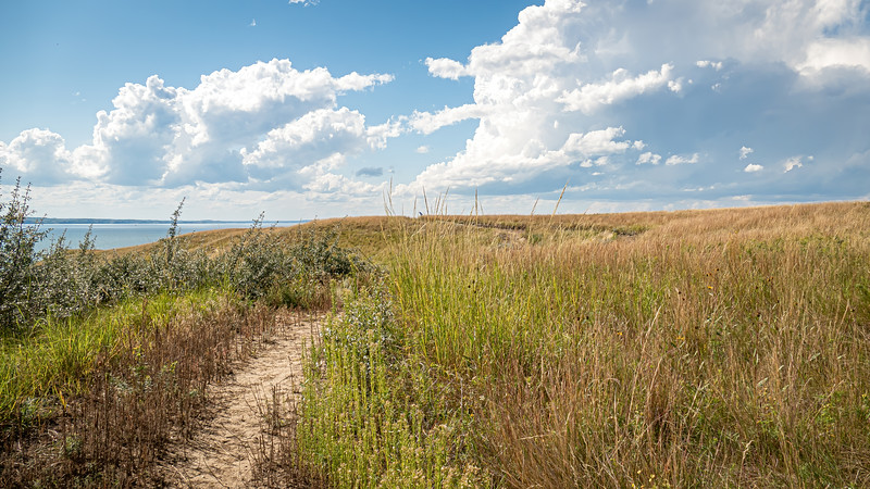 Grasslands and Summer Skies of the Nux Baa Ga Trail, Indian Hills Resort, North Dakota