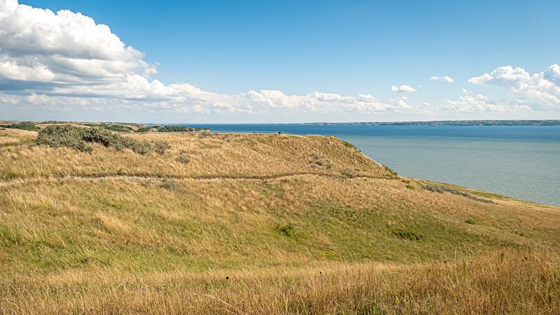 East Across Lake Sakakawea, from the Nux Baa Ga Trail at Indian Hills Resort, North Dakota