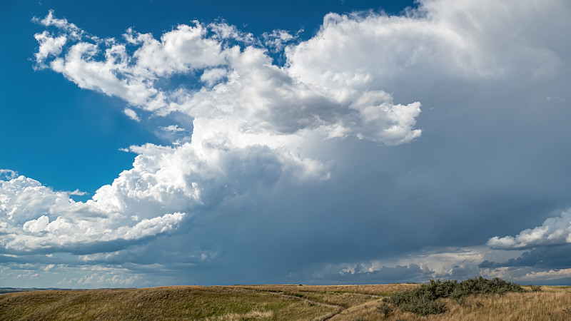 Skies Darken, Thunder Rolls at Nux Baa Ga Trail, Indian Hills Resort, North Dakota