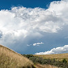 Beyond the Hills, Skies Darken as Storm Clouds Build, Indian Hills, North Dakota