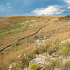Nux Baa Ga Trail Winding to Stormy Summer Skies, Indian Hills Resort, North Dakota