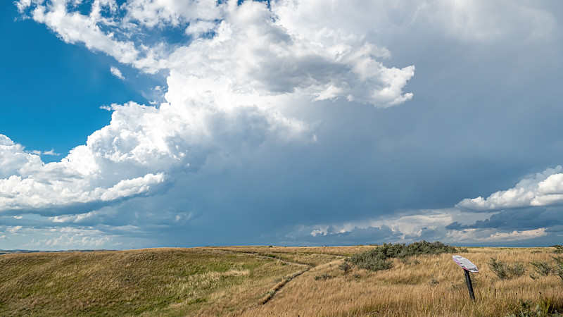 Storms Roll in from the West on the Nux Baa Ga Trail at Indian Hills Resort in North Dakota