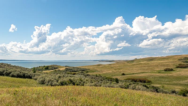 Look Towards Elbowoods, at the Bottom of Lake Sakakawea, North Dakota