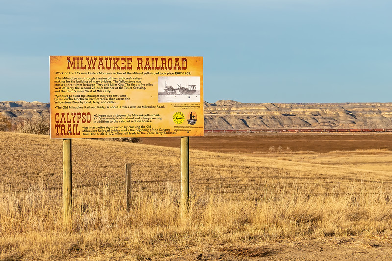 Milwaukee Railroad Bridge Signage Near Calypso Trail in Montana