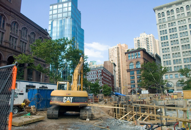 """There goes the Neighborhood"" <p> Future site of 51 Astor Place - July, 2012 - note date and see next photo."