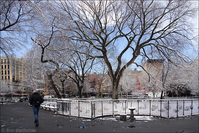 Snowy Tompkins Square Park - Headed to Avenue A