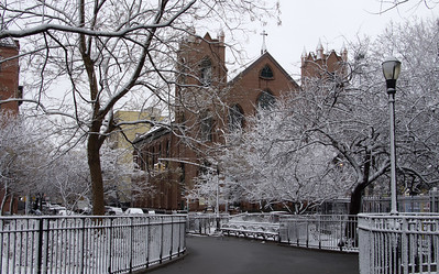 St. Brigid's Chruch from Tompkins Square Park