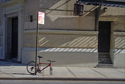 Parking a Schwinn on 9th Street