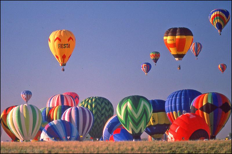 Albuquerque, New Mexico at the balloon festival - 1982