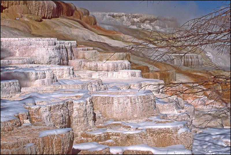 Mammoth falls, Yellowstone National Park, Wyoming
