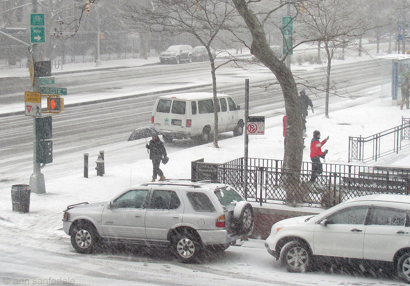Houston Street at Christie - from the window of Whole Foods  -  1:45 pm
