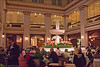 The Walnut Room - at the former Marshall Field Dept. Store on State Street...  Now it is a Macy's but they didn't change this.  Lunch there was an important bit of nostalgia for me. May 8th.