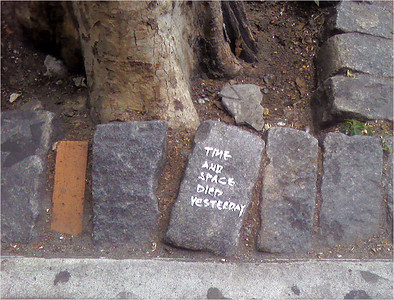 Stone cold philosophy - in the East Village