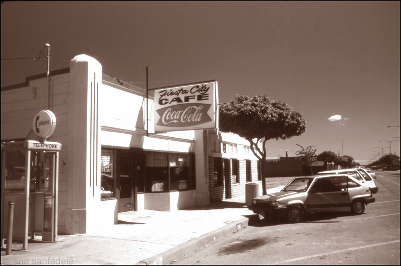 """Fiesta City Cafe - Greenfield, California - 1987. Still there, mentioned on the web recently.  I had notes in my journal that we loved the food, ambiance and price.  I noted the decor was """"wonderfully tacky""""."""
