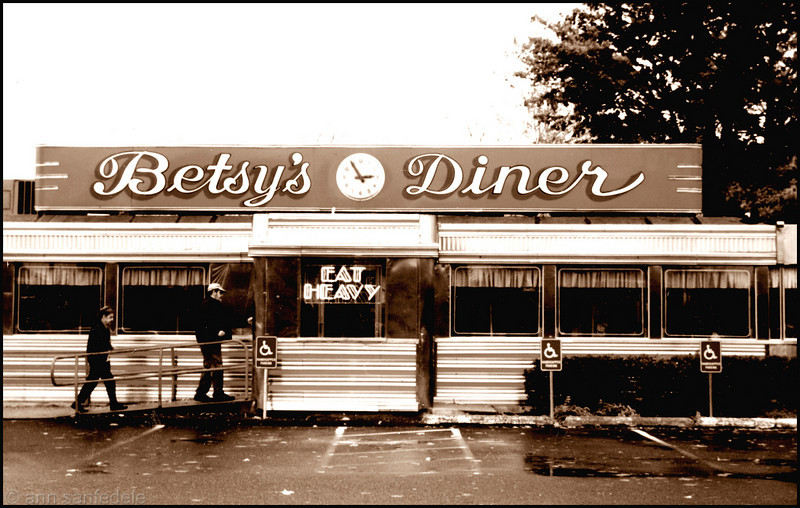 Betsy's Diner - Falmouth, Massachusetts - 1997. Most definitely still there.