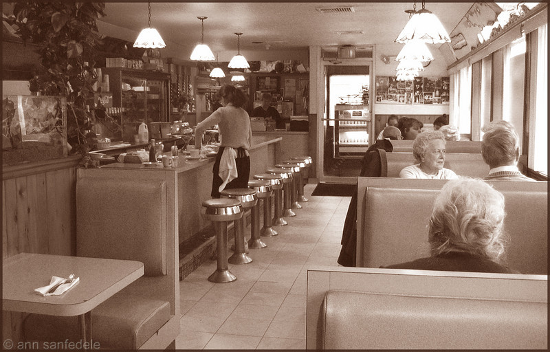 Curley's Diner - Stamford, Connecticut - 2002. This diner fended off the long arm of Target Stores to keep itself open and in this very spot.  There is a lot of stuff on the web about it.  So glad it is still alive.