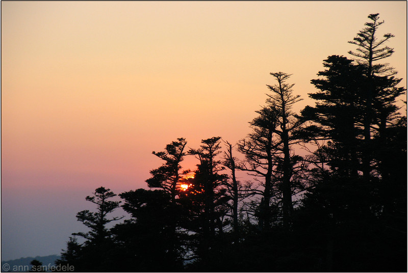 Grandfather Mountain sunset - 2005