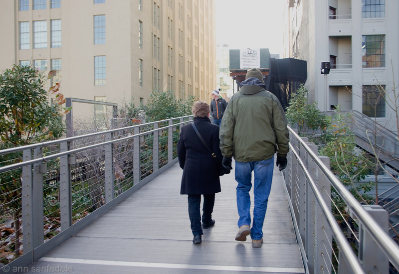 Harriet and Ed walk the high line