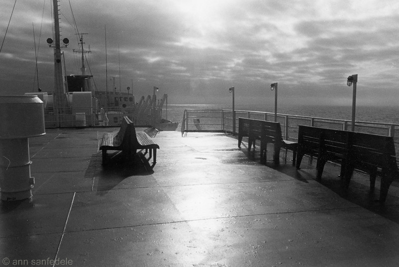 Daybreak aboard the ferry to Argentia, Newfoundland from Cape Breton Island, Nova Scotia.