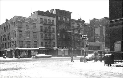 1st ave at 9th St - New York, January 1977