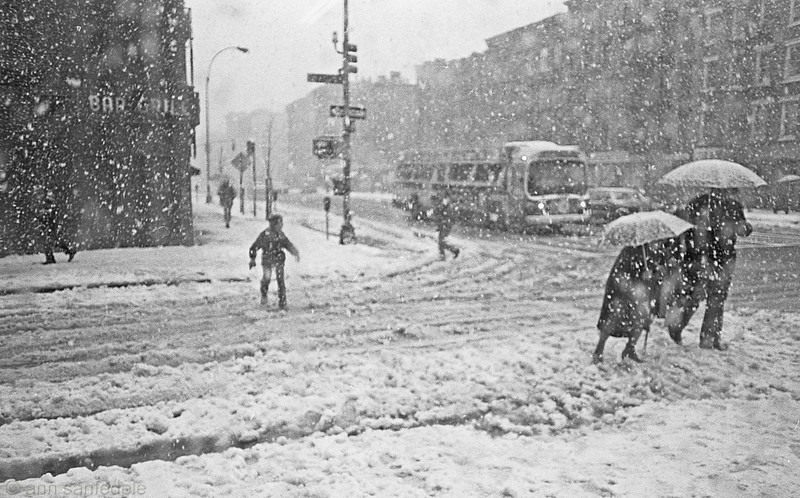 Spring snow in the East Village - March 13, 1980