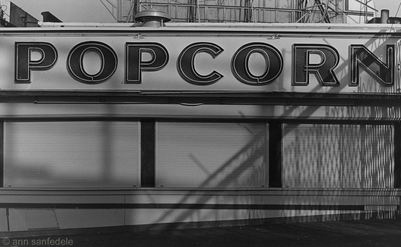 Popcorn Stand on the Boardwalk in Atlantic City  - January, 1984