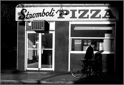 Stomboli's Pizzaria - First Avenue and St. Mark's Place - November, 1979.