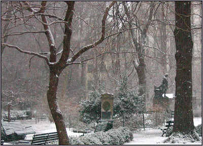 Gramercy Park in the snow