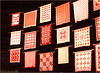 Red and White Quilts  in exhibition at the NYC Armory.