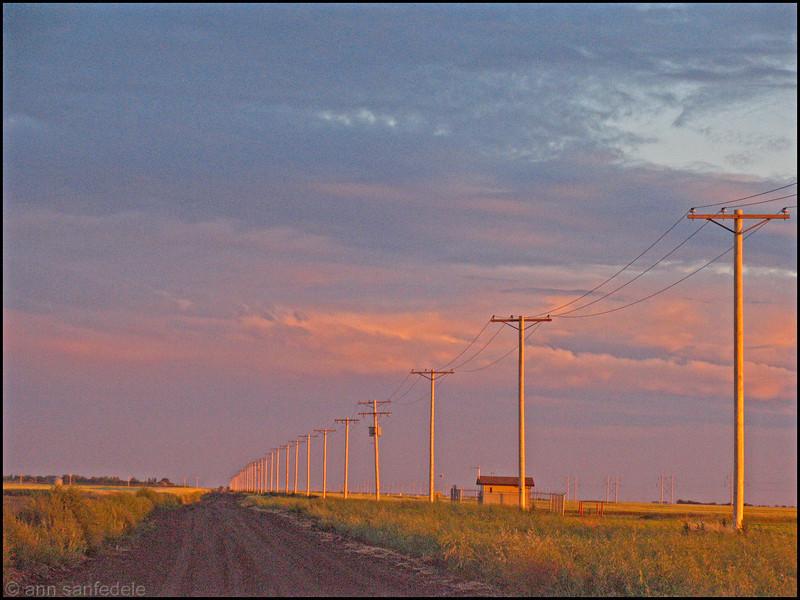 Dusk on the Prairie West of Regina, August 2005