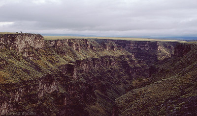 The Rio Grande Gorge , northwest of Taos, New Mexico September, 1985