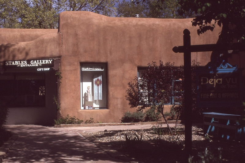 Stables Gallery in Taos  in May 1990 but looks the same as 1956