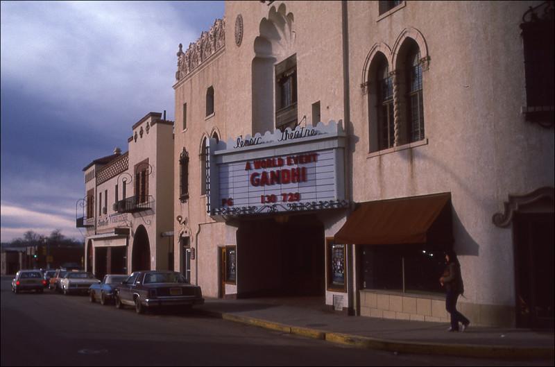 Movie theatre in Santa Fe - February, 1983