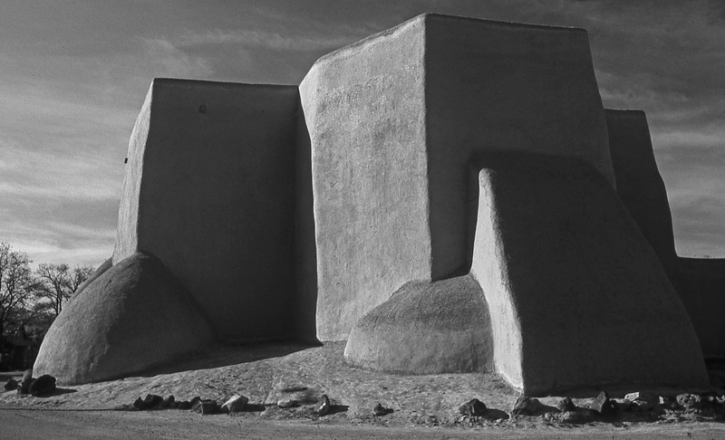 The Church at Ranchos de Taos - BW conversion - just because :-)