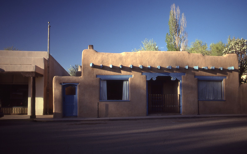 a typical street scene near the plaza in Taos