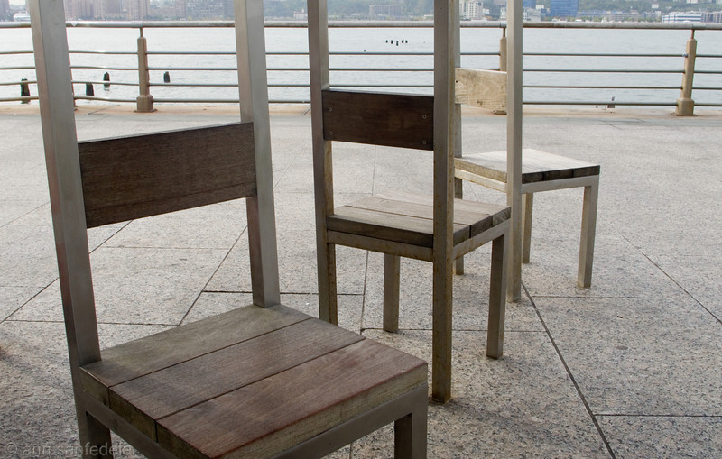 3 chairs on the Hudson