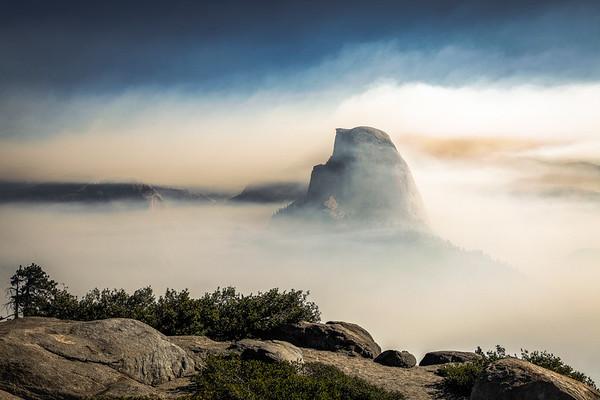Smoke on Half Dome