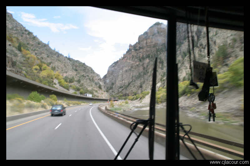 I-70 through Glenwood Canyon in Colorado. I-70 between Denver and Grand Junction is perhaps one of my favorite drives in the lower 48.