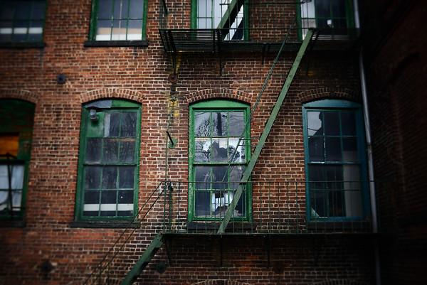 Fire Escape & Green Windows---Boonton, NJ