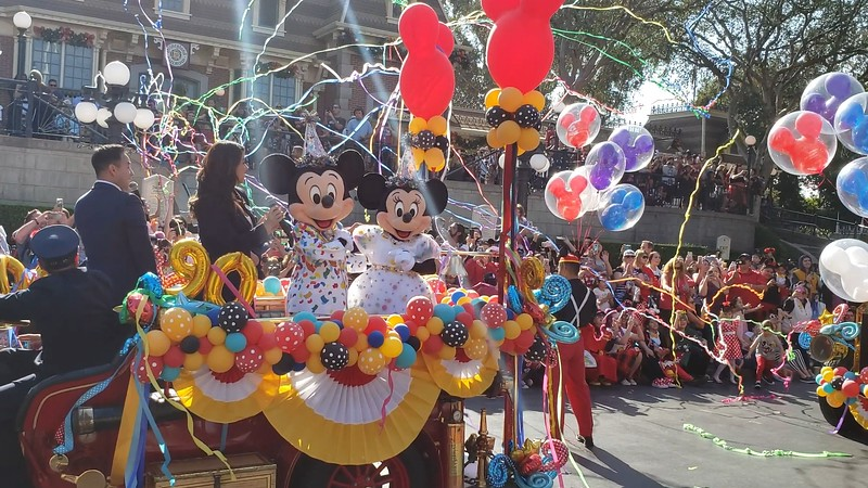 WATCH: Mickey and Minnie share birthday moment at Disneyland #Mickey90🎂