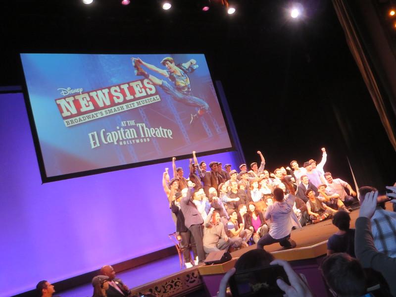 Newsies at the El Capitan Theatre