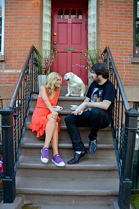 Cat Greenleaf & family at home in Brooklyn