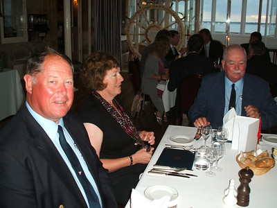 Brian, Geraldine and Peter dining at the Squadron
